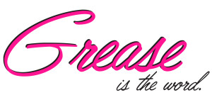 Grease wordmark with tag